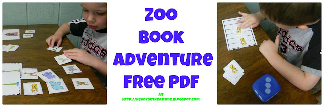 Photo Zoo or Farm Animal Sort Game and Zoo Counting Game Free PDF Ready. Set. Read! http://readysetread2me.blogspot.com