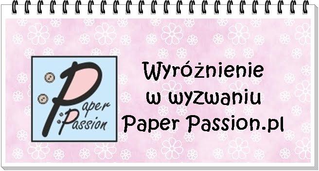 Wyróżnienie od Paper Passion