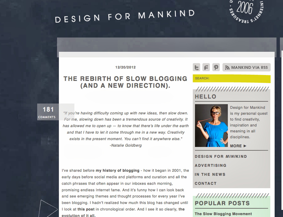 design for mankind blog