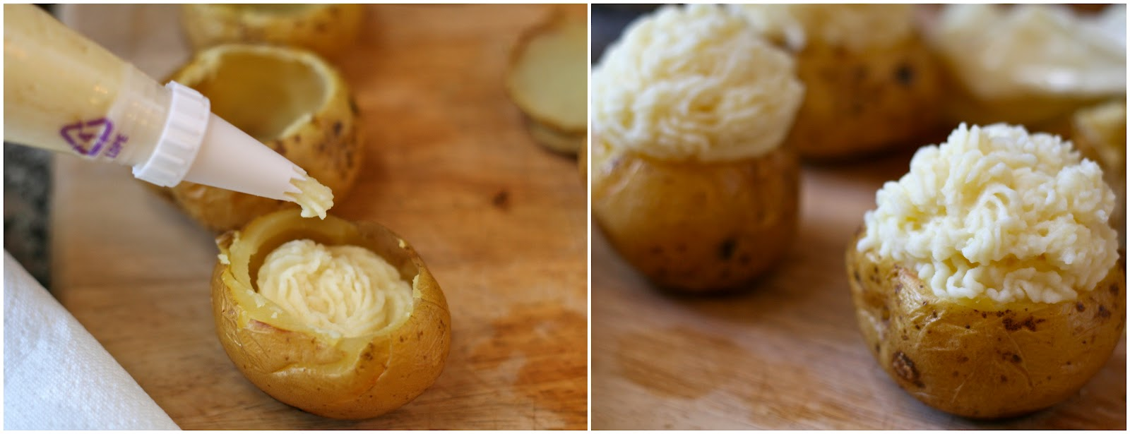 Sprinkle potatoes with chives or parsley and top with crispy hash ...