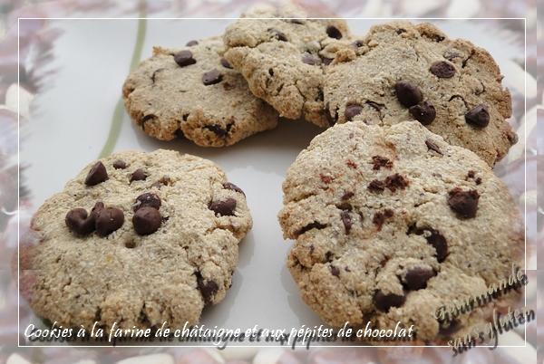 Cookies à la farine de châtaigne et aux pépites de chocolat
