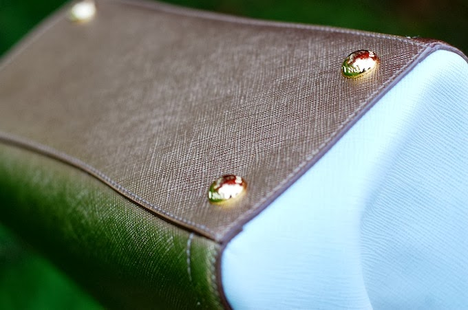 Prada Saffiano Lux Bicolor EW tote (BN2608) handbag review