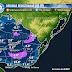 Mapa con mínimas del Jue 7/5. Florida registró 2° bajo cero.