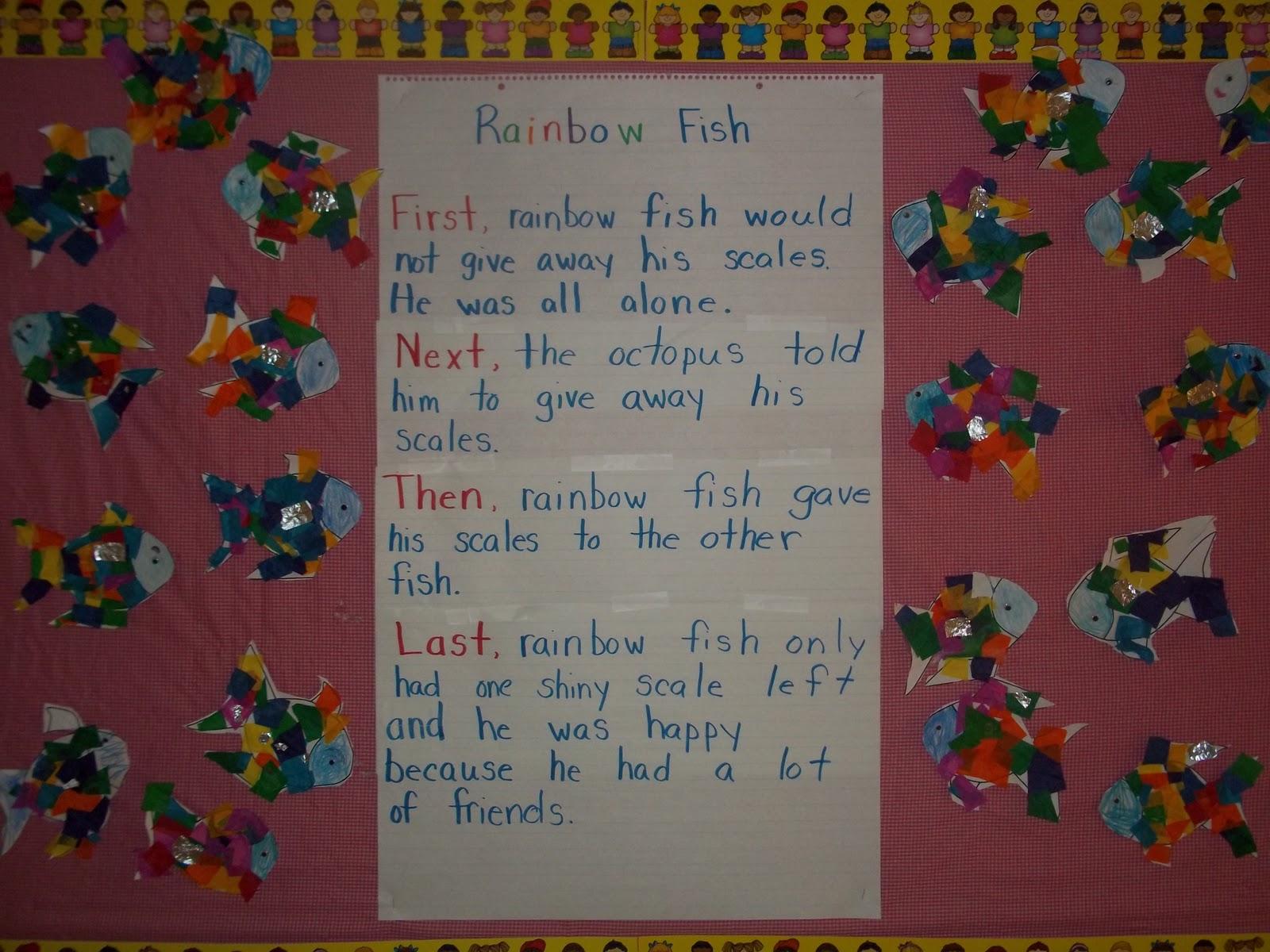 Mrs wood 39 s kindergarten class rainbow fish for Rainbow fish activities