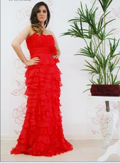 vestido rojo para gorditas 2012