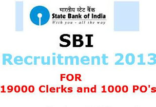 State bank of India recruitment 2013-14