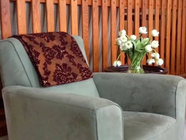 Desinging Home: folded fabric in chair back