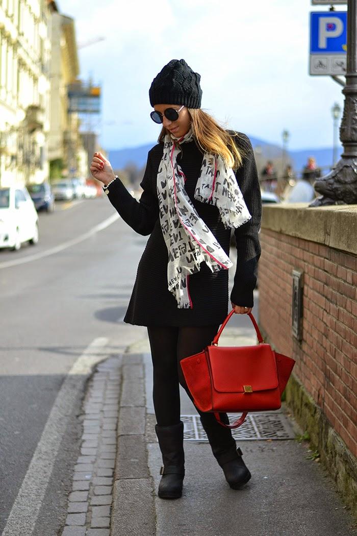 abito maglia nero