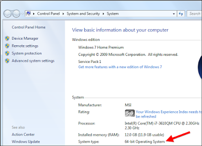 jumlah ram di system window