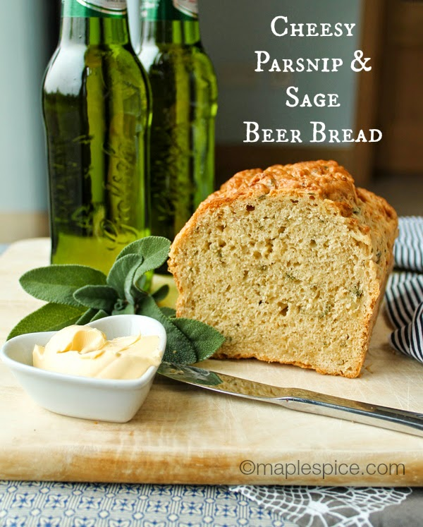 Cheesy Parsnip and Sage Beer Bread (vegan recipe)