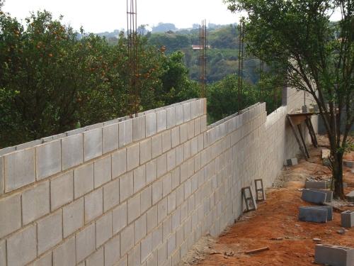 muro bloco de concreto vedação