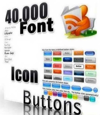40000 Collection of Icons - Fonts and Buttons