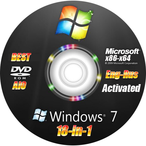 Windows 7 Sp1 Aio 18in1 X86-x64 Rus-Eng Activated V4