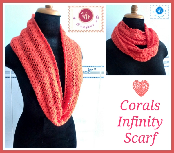 Corals Infinity Scarf Free Crochet Pattern