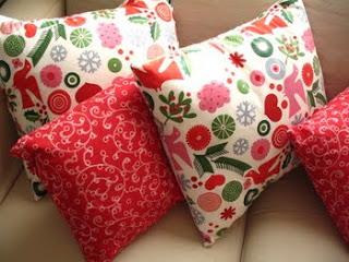 Almofadas de Natal - Tecidos natalinos