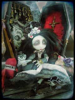 lulusapple art doll Pangari Coffin girl