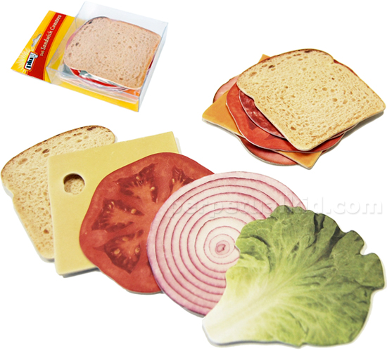 Quirky Foodie Gift Ideas for Friends and Family: Sandwich Coasters