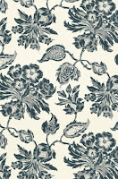 Floral Wallpaper T4103 Navy
