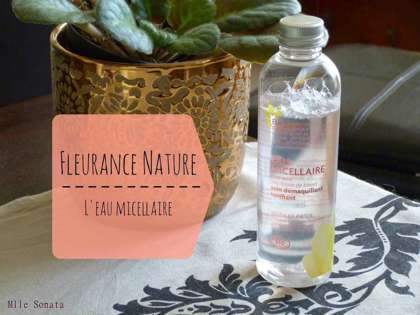 Test eau micellaire bio Fleurance Nature