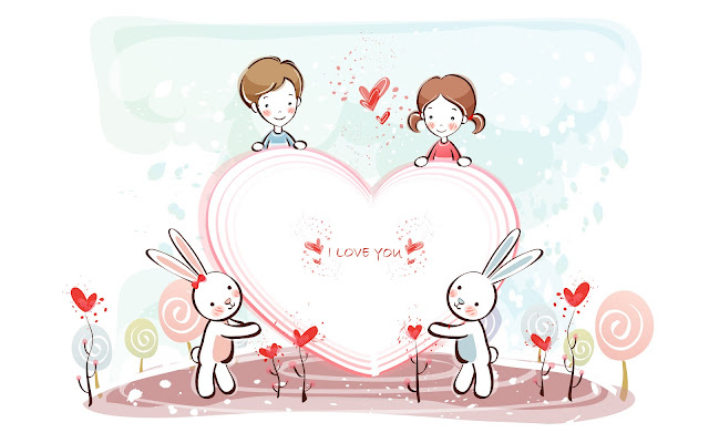 Best Jungle Life valentine s day wallpapers,love couple,bunnies,drawing
