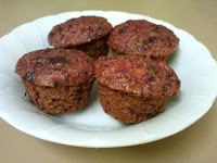 Beetroot and Chocolate Mini Muffins
