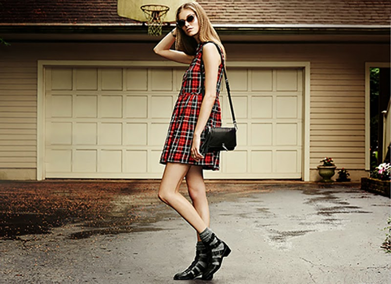 Elizabeth-And-James-Pre-Fall-2014-Lookbook-Shopbop-Plaid-Dress-Cross-Body-Bag