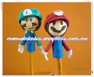 Fofu Lapiz Mario Y Luigi Bross
