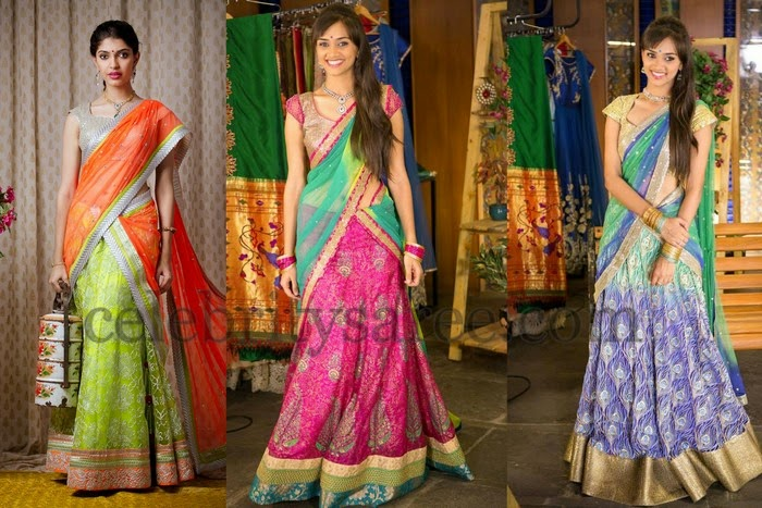 Latest Half Sarees by Bhargavi