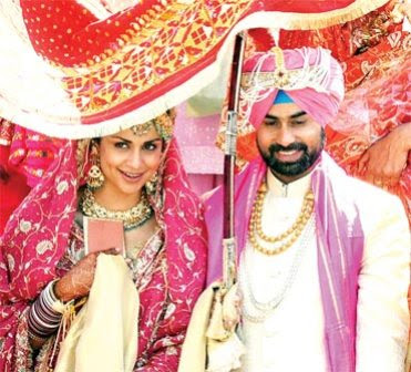Actress Gul Panag Rishi Attari Wedding