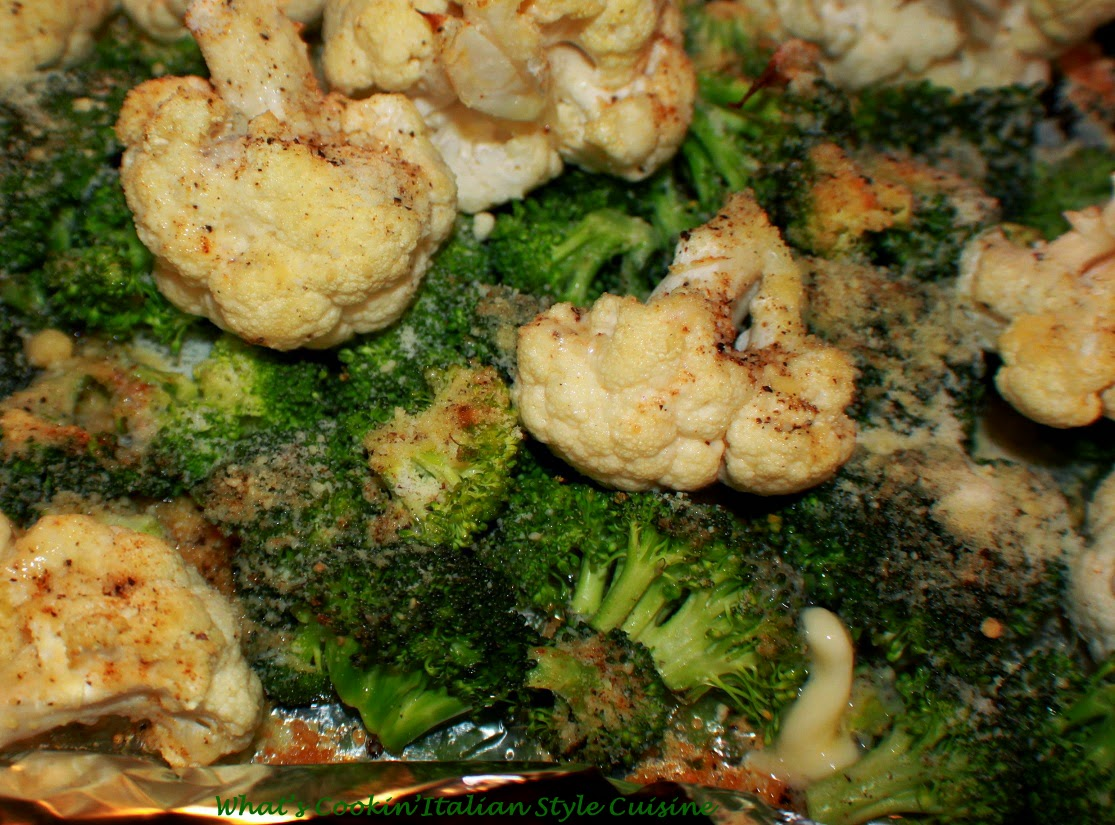Parmesan Butter Roasted Cauliflower and Broccoli Recipe ...