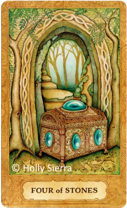 Chrysalis Tarot Four of Stones Holly Sierra