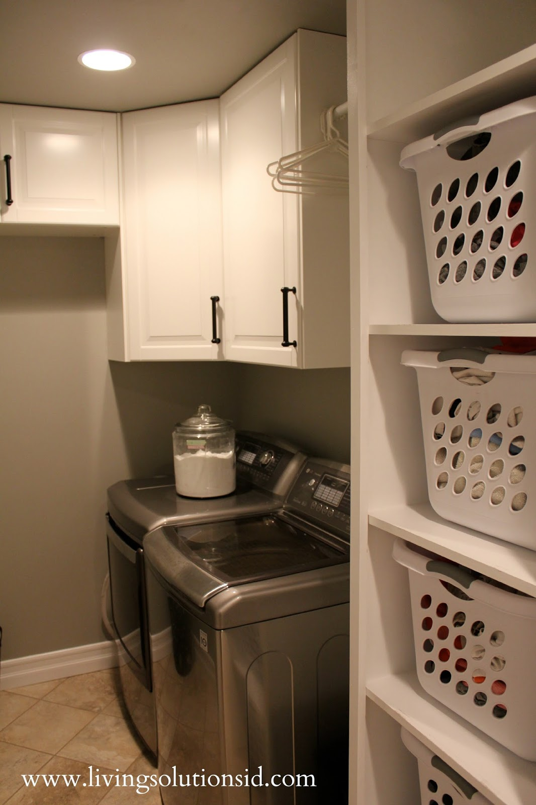 The laundry room today for Laundry room shelving