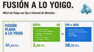 Tarifas Fusión en abril 2015 (ADSL + Móvil + Fijo)
