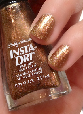 Sally Hansen Insta-Dri Fall 2013 Polishes - Chop Chop Copper and Currant Trend