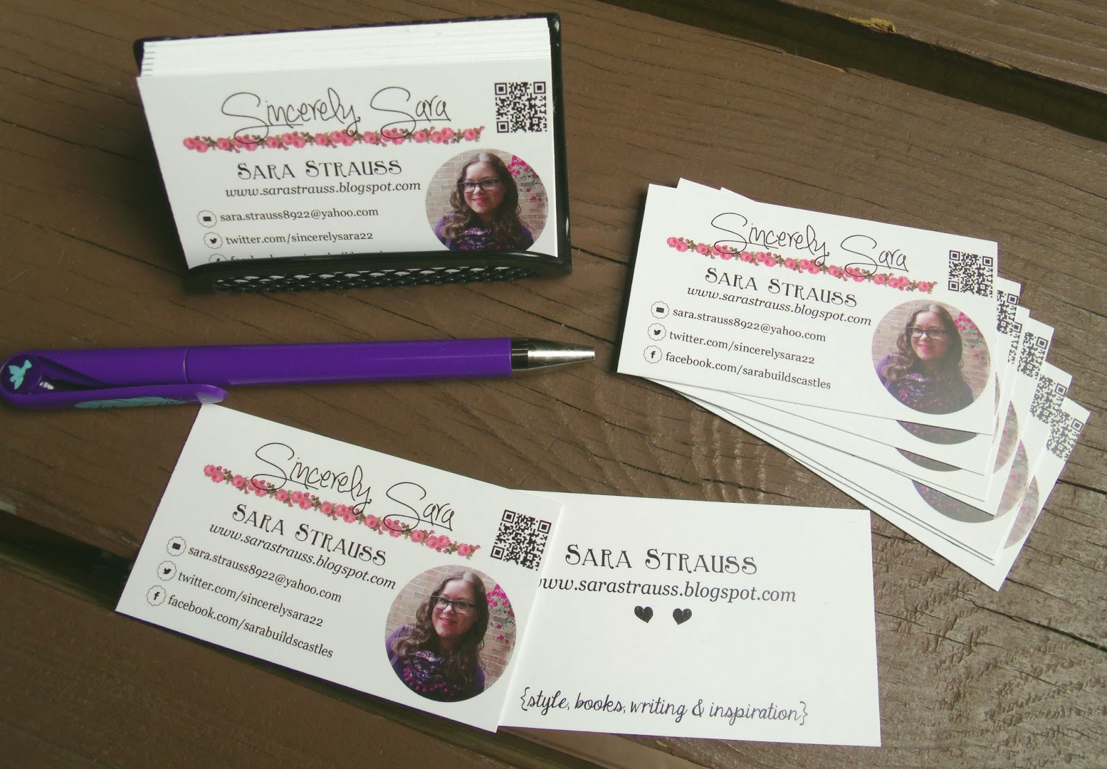 Sincerely sara style books blog business cards blog business cards magicingreecefo Gallery