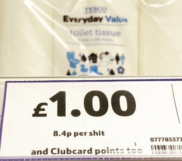 Expensive shit at Tesco!