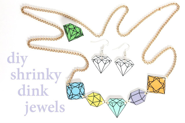 shrinky dink diy jewellery tutorial
