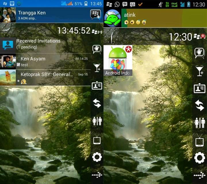 BBM Modifikasi versi Waterfall (GIF) | Keren, Background Bergerak!