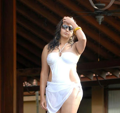 Namitha Sexy Body in White Bikini Photos