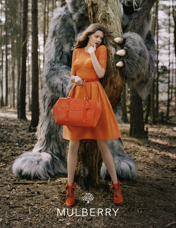 Ad Campaign: Mulberry F/W 12.13: Lindsey Wixson by Tim Walker
