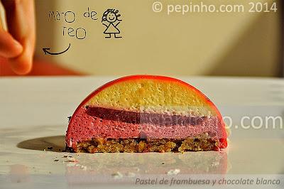 Pastel de frambuesa y chocolate blanco (TEO)