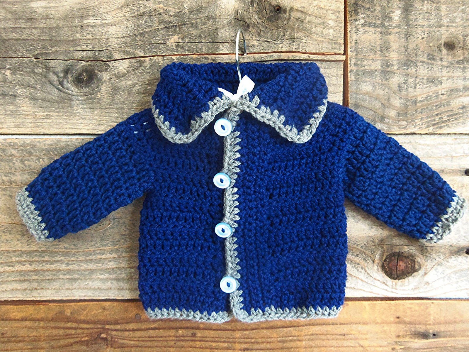 Crochet Baby Sweater : 3squeezes: Easy Crochet Baby Sweater