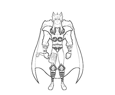 #6 Thor Coloring Page