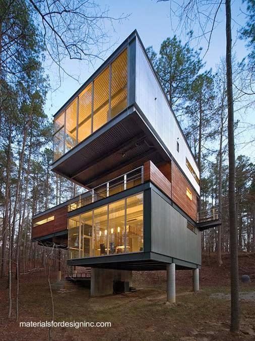 Arquitectura de casas casa residencial de metal con for Techos de metal para casas