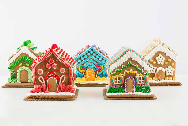 decorated Christmas gingerbread house sweets