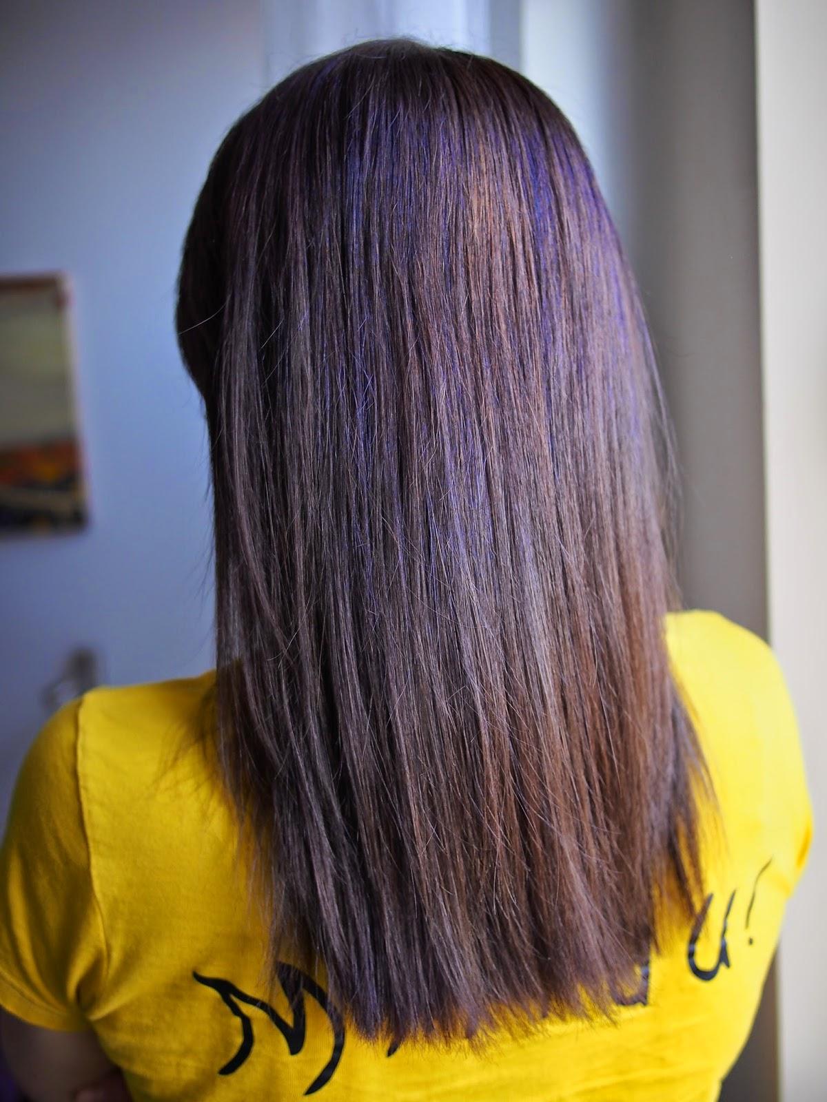 Rozjasnienie ciemnych włosów - druga wizyta u fryzjera