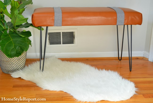 Modern Leather Bench Tutorial