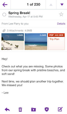 Yahoo Mail iOS app gets folder management, improved attachment handling
