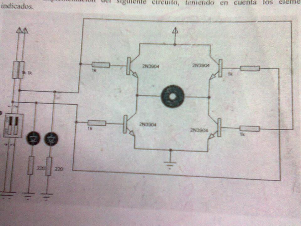 Circuito H : Circuitos scr y puente h transistores puente h