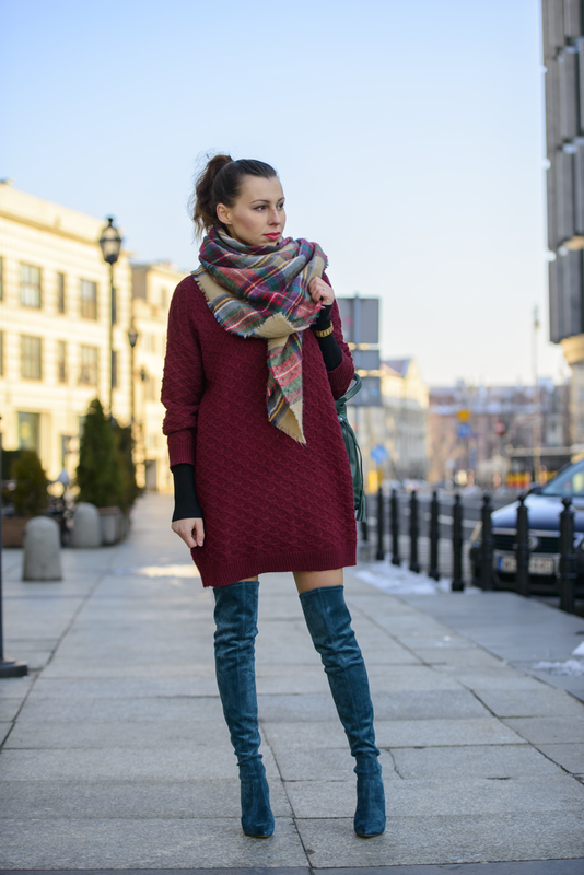 over the knee boots street wear